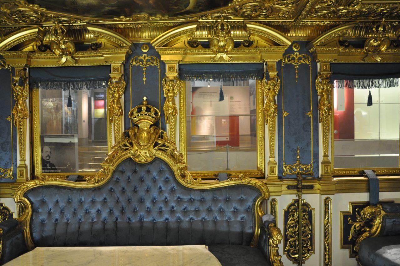 Interior of King Ludwig II of Bavaria Royal train