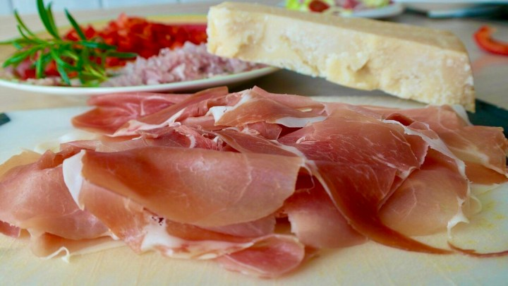 Schinken, Prosciutto, Parmesan