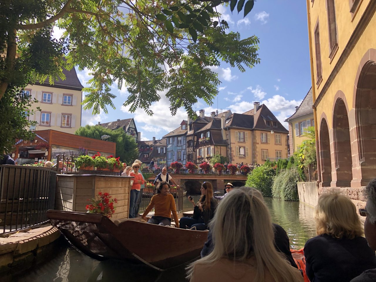 Old town Colmar, France. boat ride
