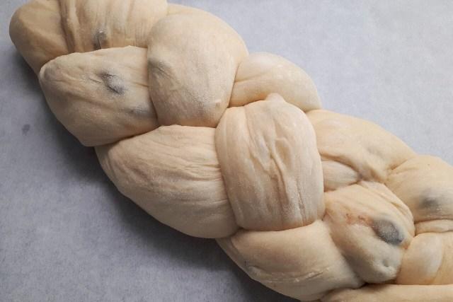 Yeast dough braided
