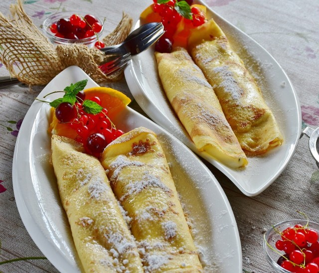 French Crepes on serving platter
