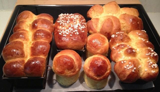 Sweet bread. German egg rolls