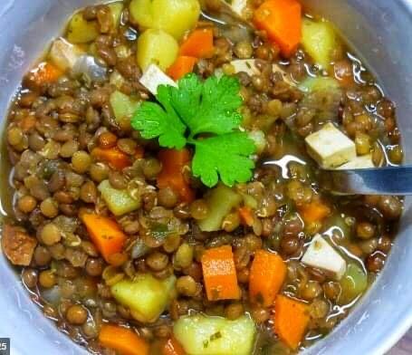 Lentil soup, Linsen suppe