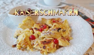 Kaiserschmarrn with berries, Austrian dish