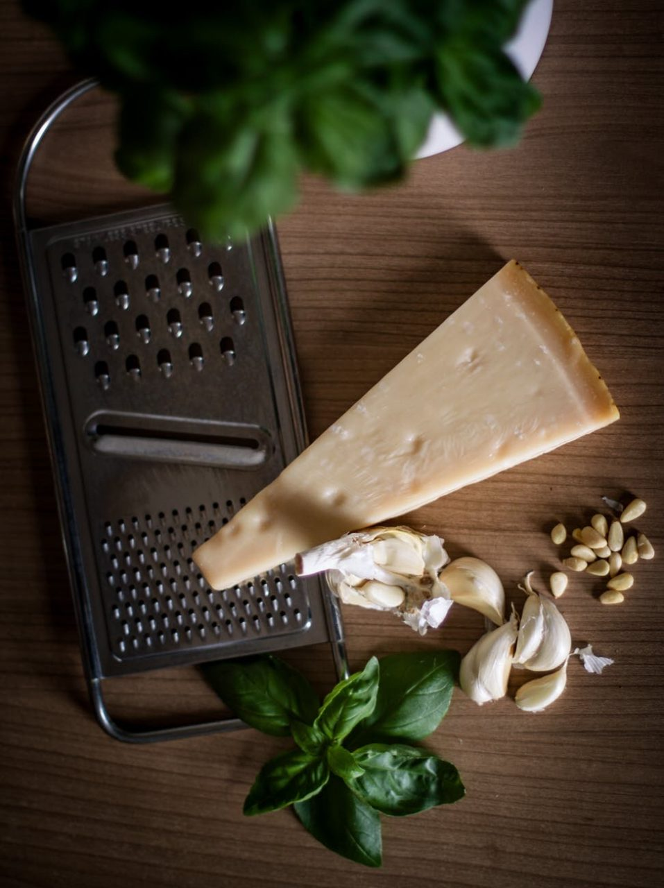 Parmesan, garlic basil