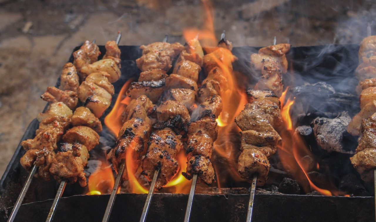 Schaschlik, Kebab on grill