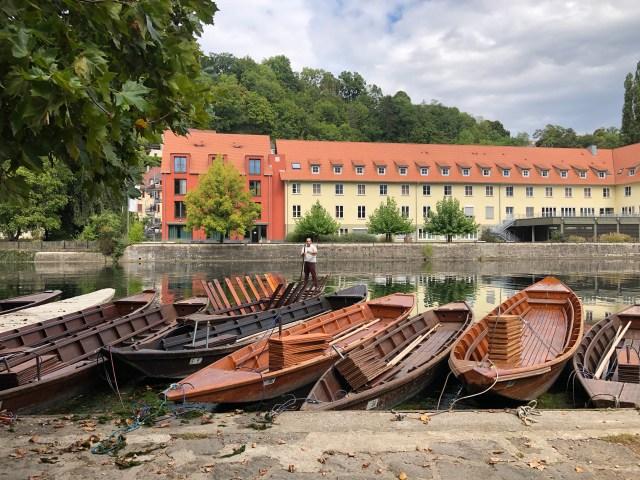 Boat launch in Tübingen, Neckar River Tuebingen boat ride