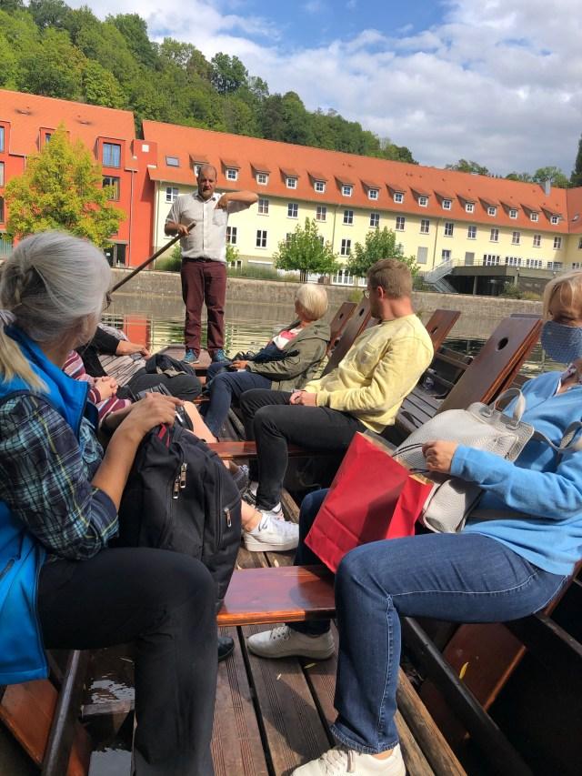 Boat ride, Neckar River Tuebingen boat ride