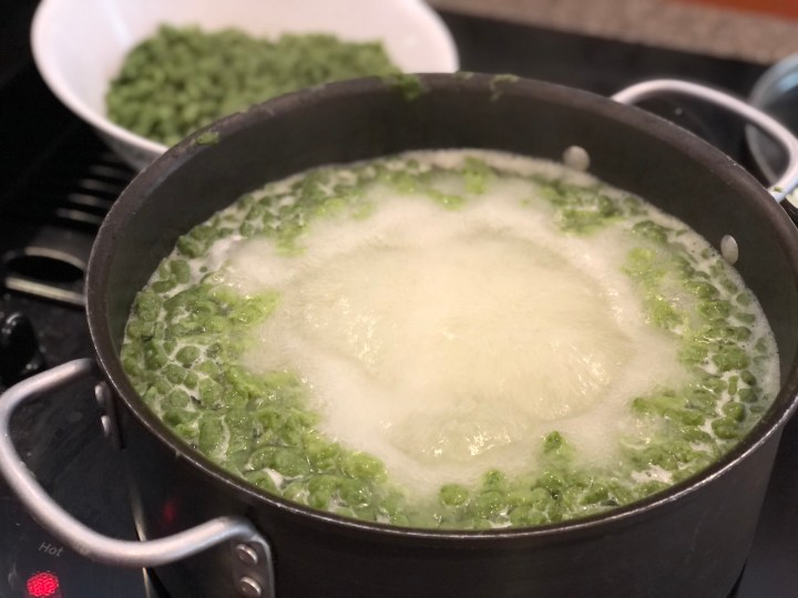 Boiling Spinach Spätzle