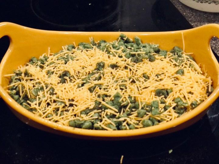 Spinach Spaetzle preparation