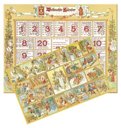 Gerhard Lang windowless German Christmas Calendar