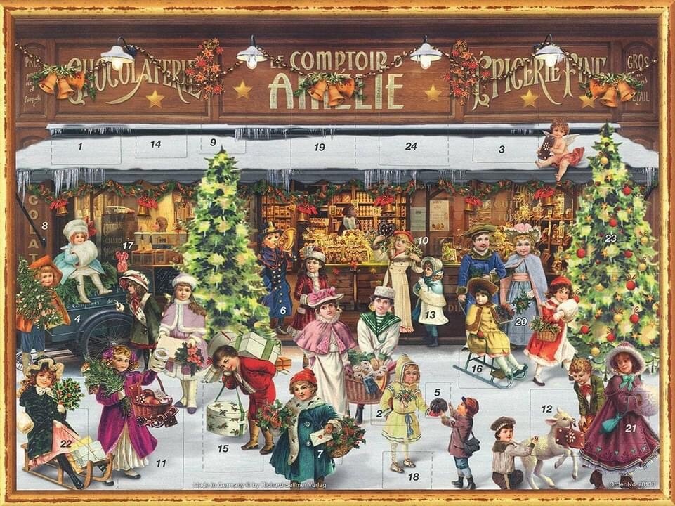 German Chocolate Christmas calendar