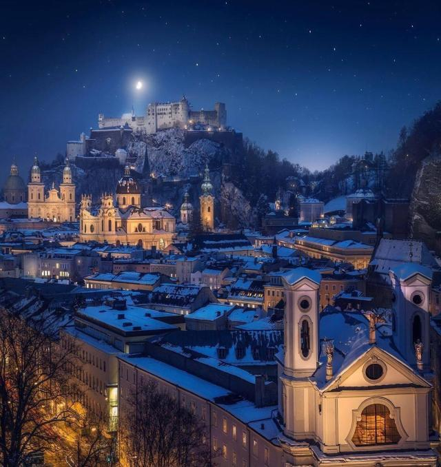 Salzburg at night