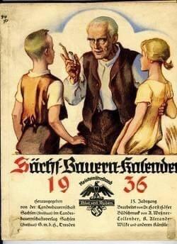 Bauernkalender, German Almanac 1936