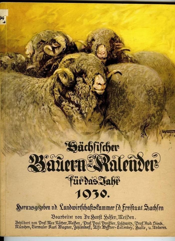 Bauernkalender, German Almanac 1930