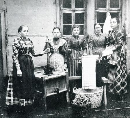 Haushaltsschule 1900