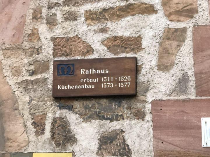 Marburg Rathaus plague