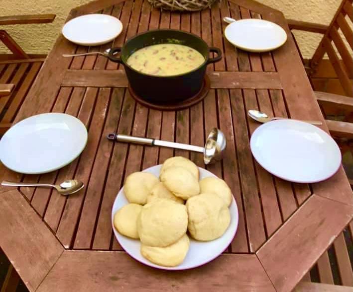 Dampfnudeln, Potato soup