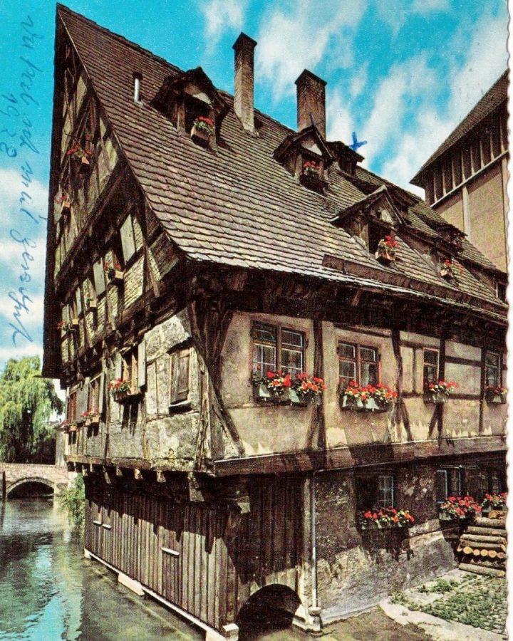 Schiefes Hau Ulm Postkarte