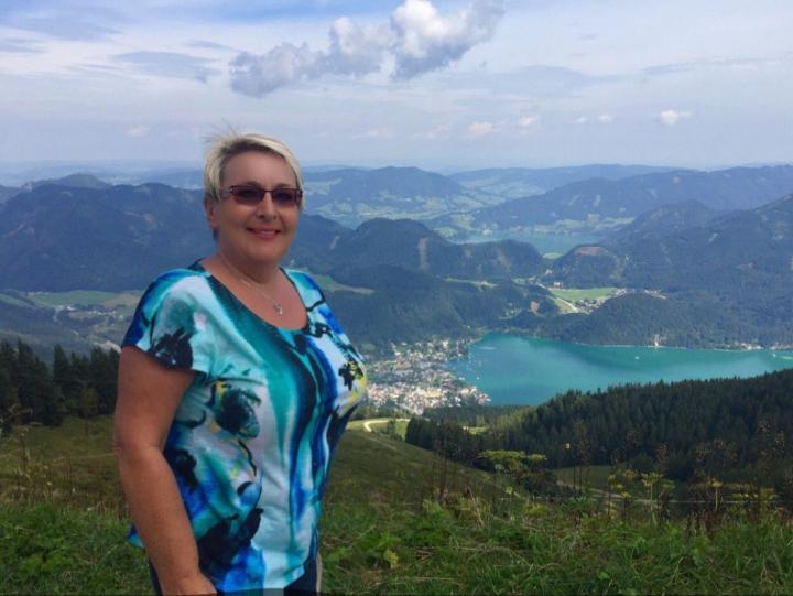 Sankt Gligen, Austria view from the mountain