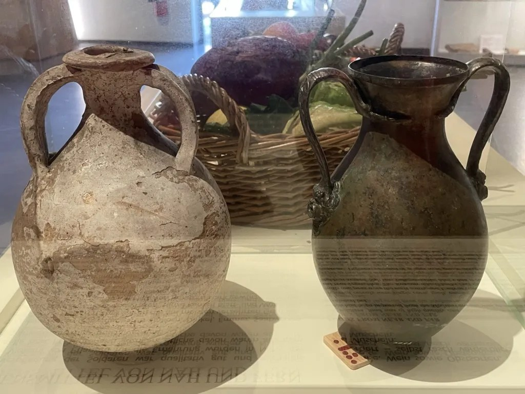 Roman vases, food containers