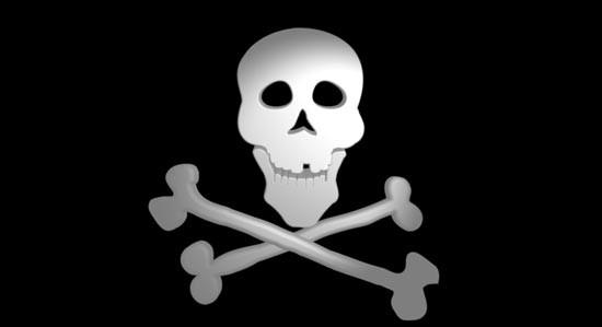 3D Skull & Crossbones