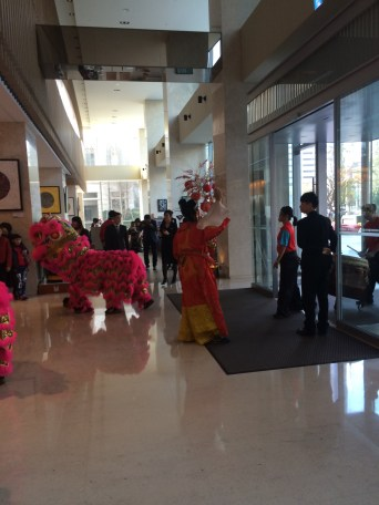 I got to witness the lion dance.