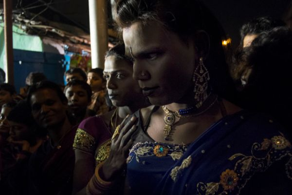Hijras during a URUS ceremony of Baba Jalaluddin Sayeed. Hijras of the Indian Subcontinent have a deep and inner connection to Sufi Orders and Muslim saints.