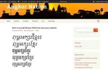 Khmer web font