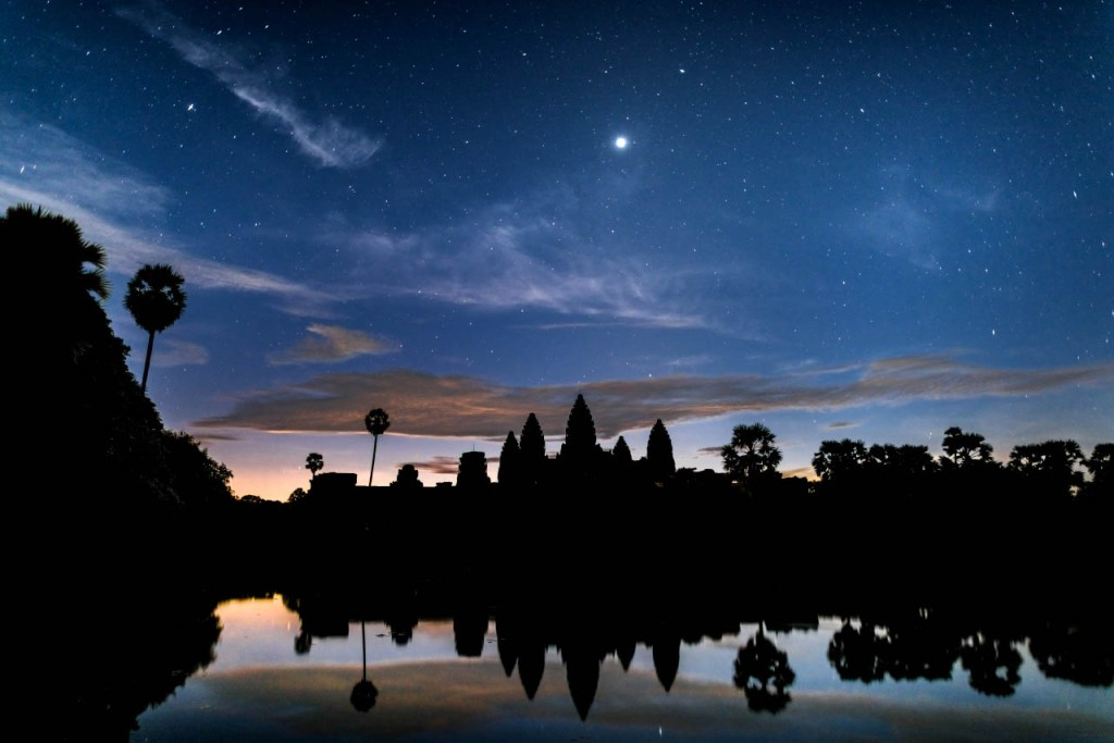 Angkor Wat before sunrise