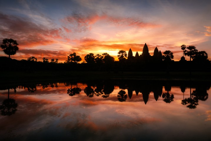 Angkor Wat sunrise in wet season