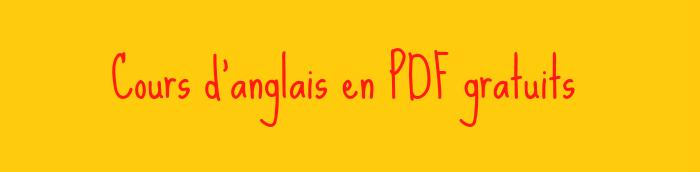 cours d u2019anglais gratuits en pdf  u2013 anglais