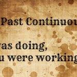 Past Continuous Cours anglais