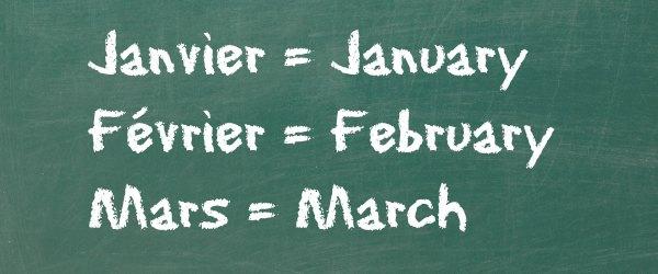 mois en anglais