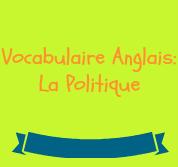 vocabulaire anglais politique
