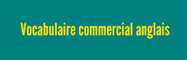 vocabulaire commercial anglais pdf