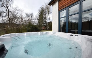 hot tub at self catering accommodation