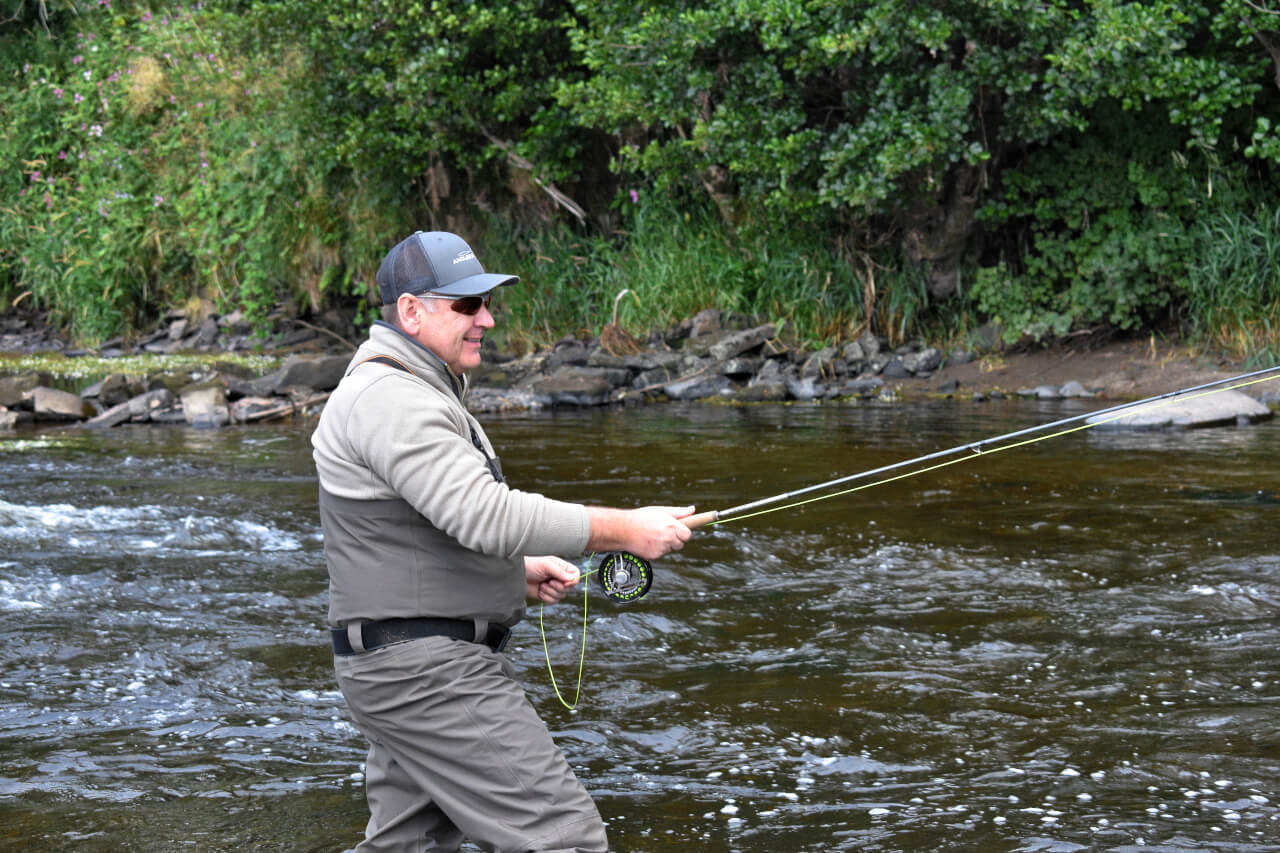 learning to fly fish in scotland on the river