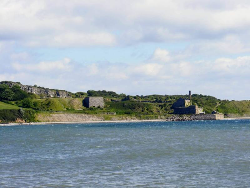 The pictureshows Penmon Quarry, you sail past in while on a puffin island cruise