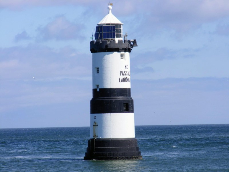 a picture of penmon point lighthouse or its welsh name Trwyn Du Lighthouse