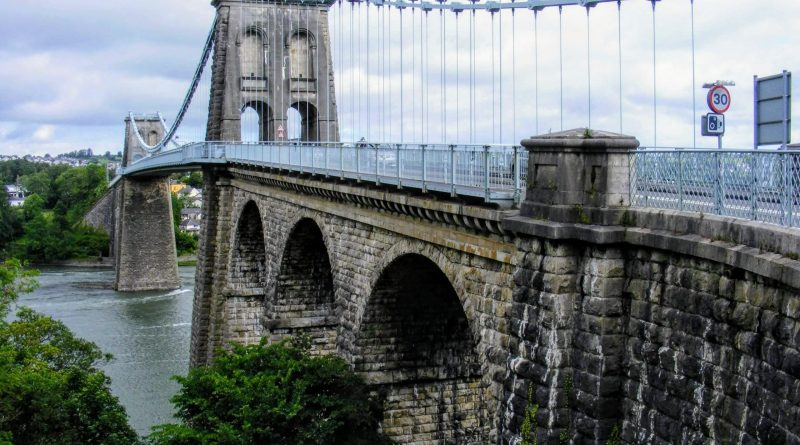 Show the Menai Bridge for the mainland of Wales