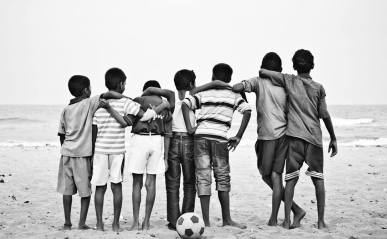 slum soccer beach