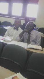 Elias and a classmate