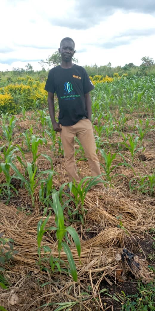 Foundations for Farming participant Andrew Diko on his plot of land