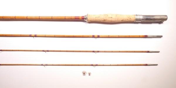 An H.L. Leonard (Wm. Mills) 3 piece (2 tips) cane trout fly rod,