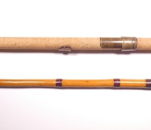 W.D. Coggeshall's bespoke greenheart and bamboo harling rod,