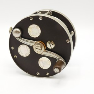 A fine and rare Hardy Cascapedia 2/0 multiplying salmon fly reel,