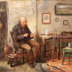 Henry Spernon Tozer (fl.1900-1930): Tying the Fly,