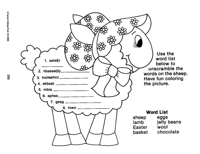 Easter – worksheets
