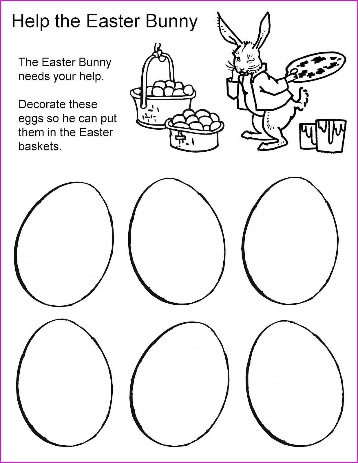 Preschool Worksheet About Easter
